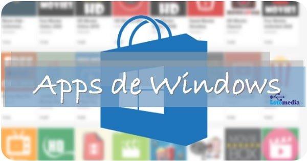 ¿Que aplicaciones tiene Windows?